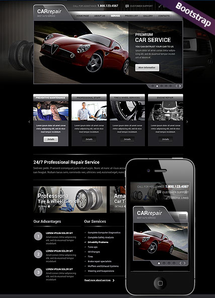 Car Repair Service, Bootstrap template