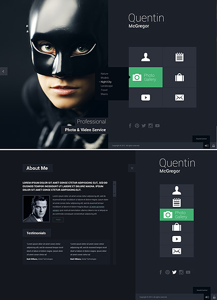 Photo & Video Service, HTML5 Photo and Video Gallery Admin template