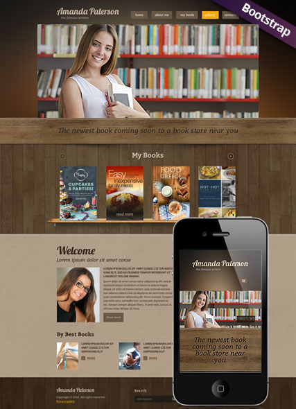 Book Writer, Bootstrap template