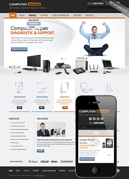Computer Repair | Wordpress templates | ID:300111780