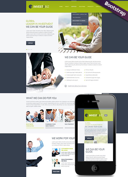 Business, Bootstrap template