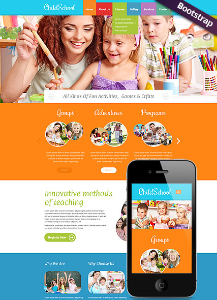 Children School, Bootstrap template