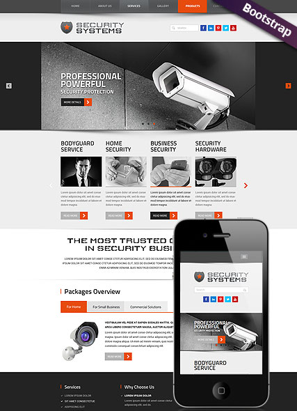 Security Service, Bootstrap template