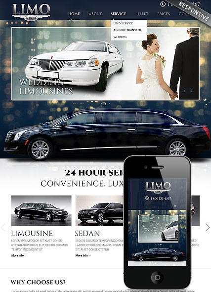 Limo Service, Bootstrap template