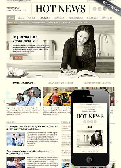 Newspaper, Bootstrap template