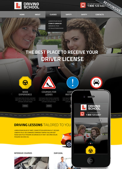 Driving School | HTML template | ID:300111822