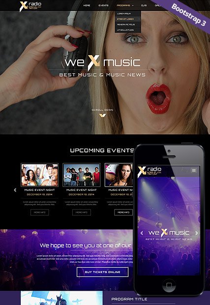 Radio Station | HTML template | ID:300111827