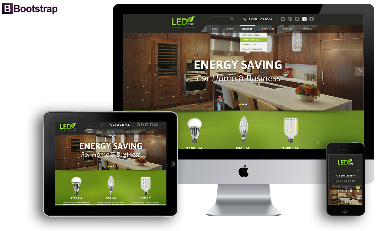 Energy saving, Bootstrap template