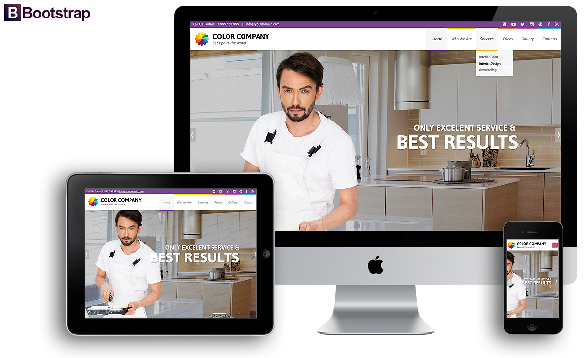 Paint co, Bootstrap template