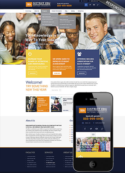 Name: College - Type: Wordpress template - Item number:300111837