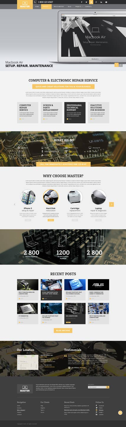 Computer Repair | Wordpress templates | ID:300111845
