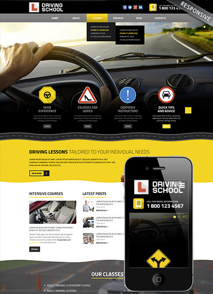 Name: Driving school - Type: Wordpress template - Item number:300111848