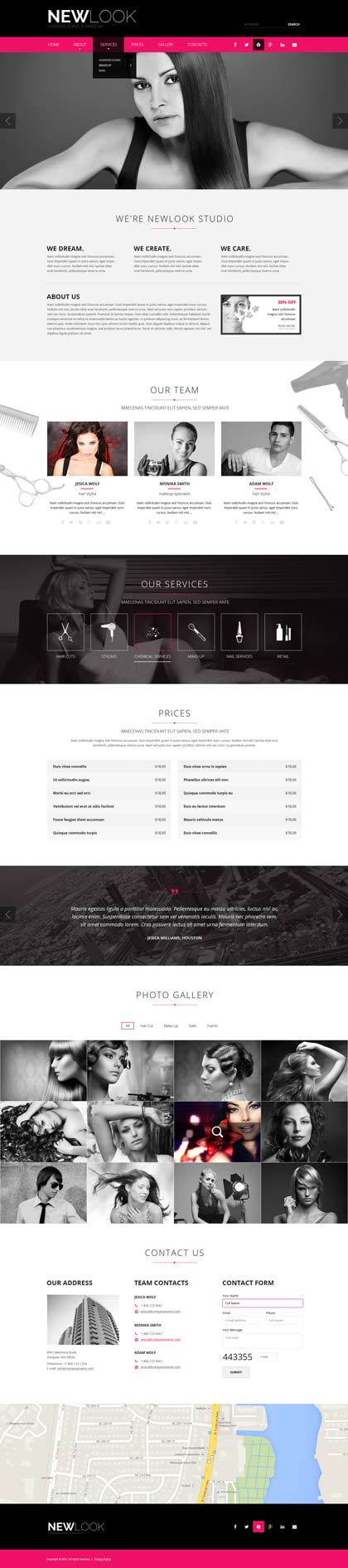 Name: Hairdressing - Type: Bootstrap template - Item number:300111850