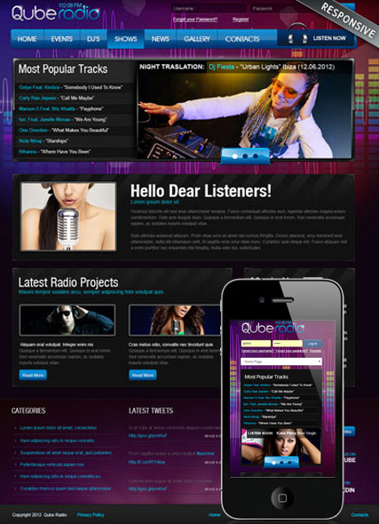 Name: Radio ST v3 - Type: Joomla template - Item number:300111852
