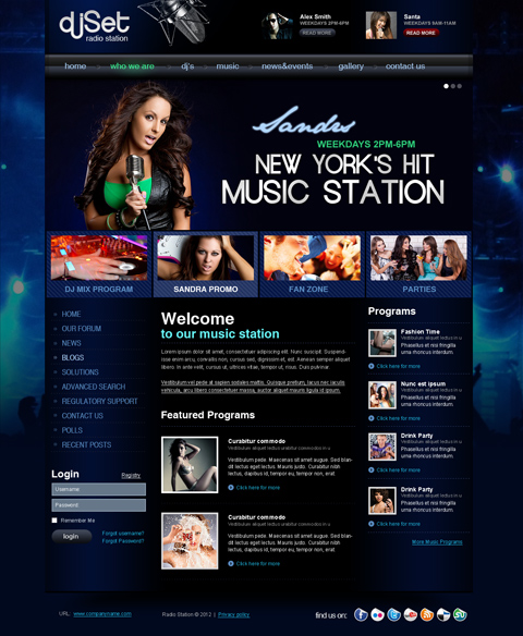 Name: Radio Station v3 - Type: Joomla template - Item number:300111859