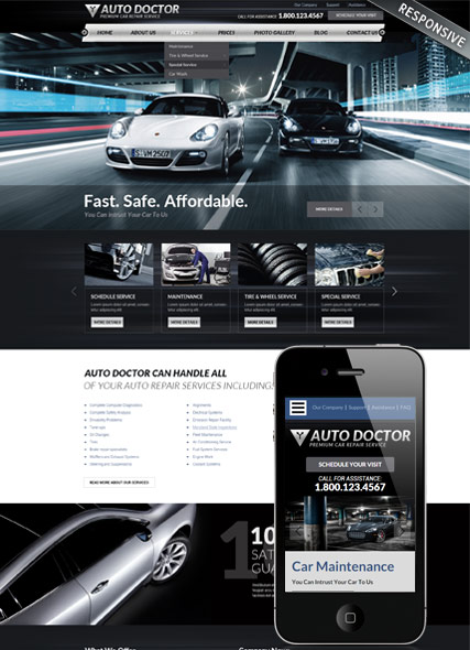 Name: Car repair service - Type: Wordpress template - Item number:300111863