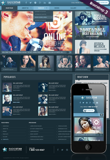 Radio Star, Wordpress template
