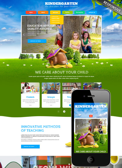 Name: Kindergarten v3.4 - Type: Joomla template - Item number:300111866