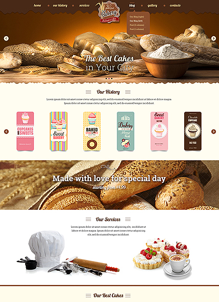 Name: Bakery - Type: Bootstrap template - Item number:300111885