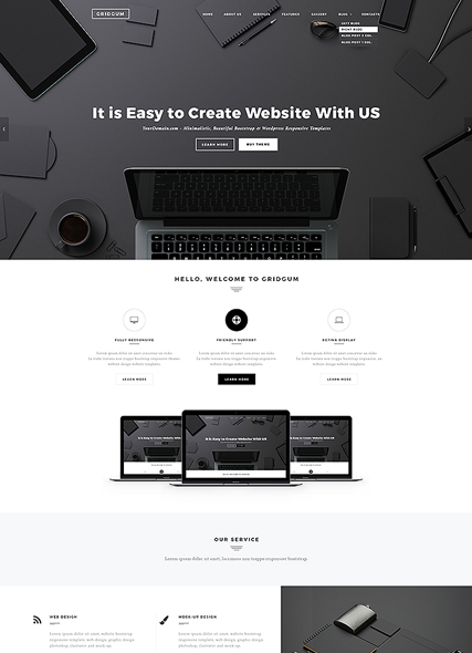 Black Label, Wordpress template