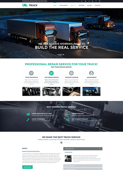 Name: Truck - Type: Bootstrap template - Item number:300111891