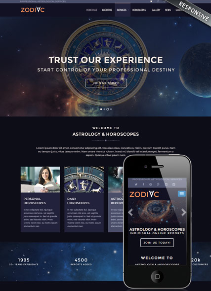 Zodiac Astrology v3.4, Joomla template
