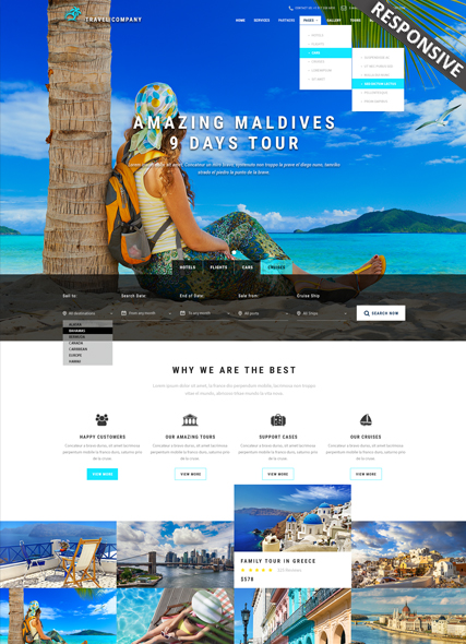 Name: Travel - Type: Bootstrap template - Item number:300111895