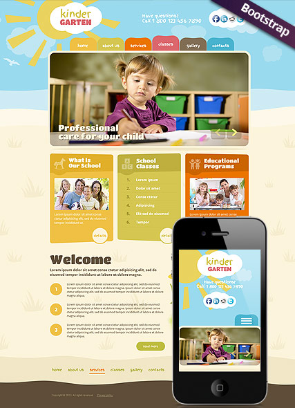 Kindergarten, Wordpress template