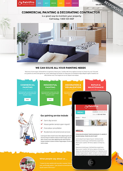 Painter v3.4, Joomla template
