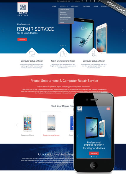 Repair service | HTML template | ID:300111899