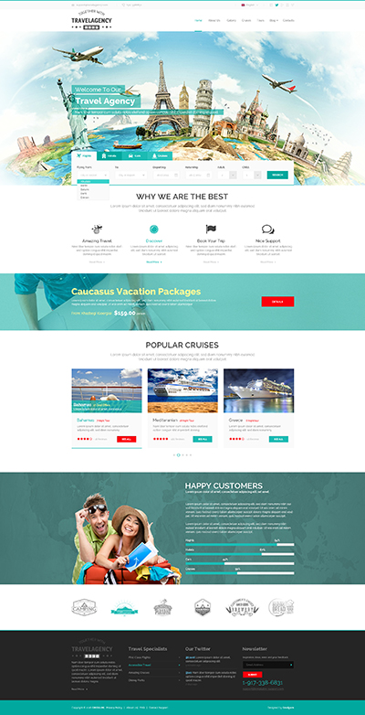 Travel Agency, Bootstrap template