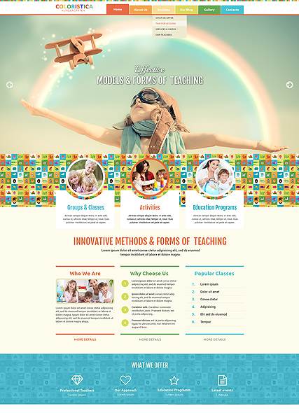 Name: Kindergarten Studio - Type: Bootstrap template - Item number:300111902