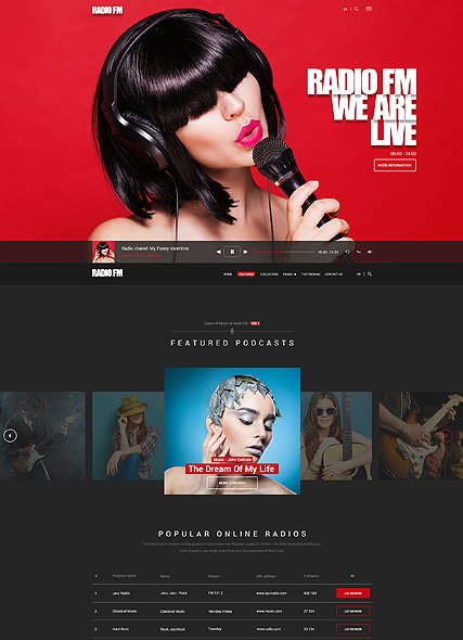 Name: Radio FM - Type: Bootstrap template - Item number:300111903