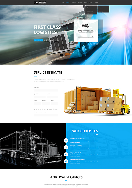 Name: Transportation - Type: Bootstrap template - Item number:300111907
