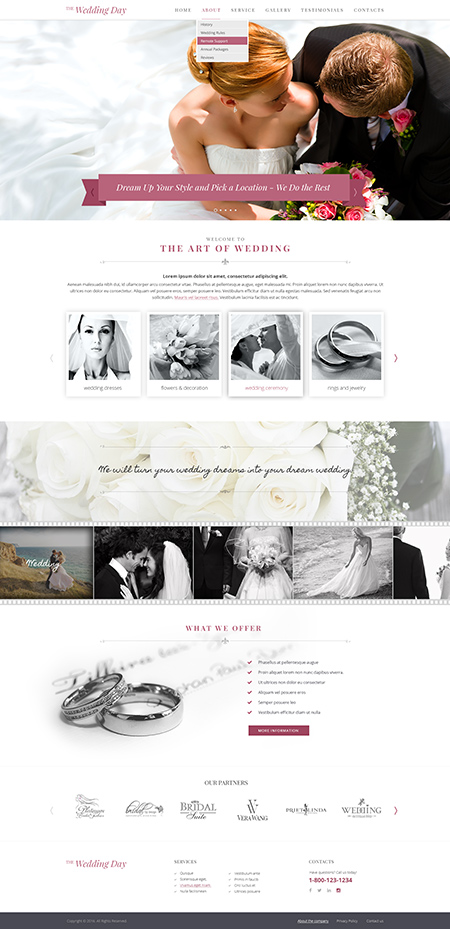 Wedding day | HTML template | ID:300111911