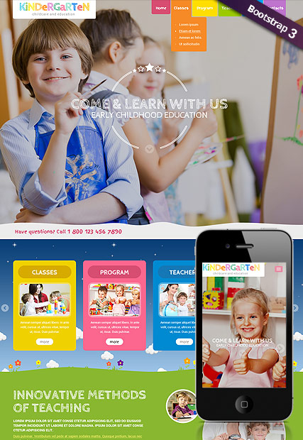 Preschool Theme, Wordpress template