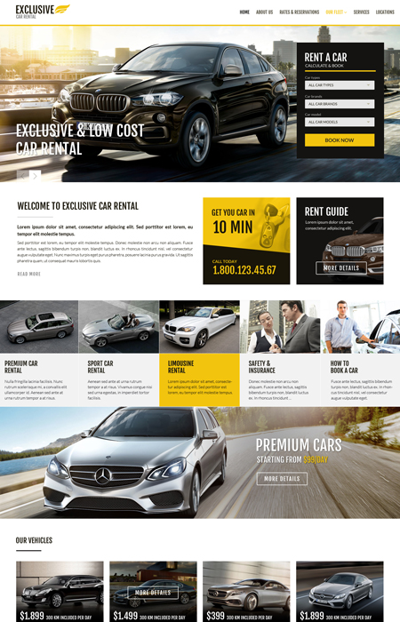 Name: Rent a car - Type: Bootstrap template - Item number:300111914