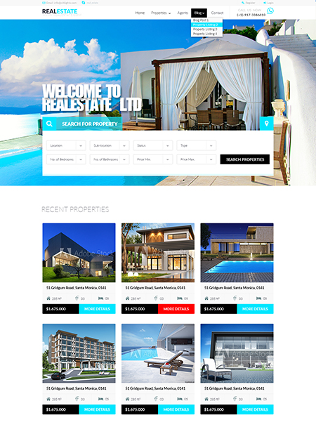 Name: RealEstate - Type: Bootstrap template - Item number:300111924