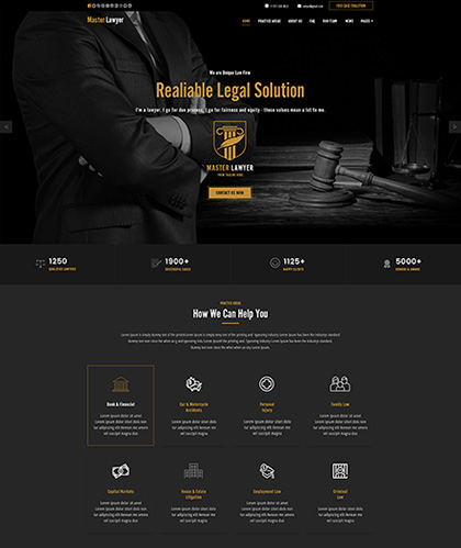 Lawyer, Bootstrap template
