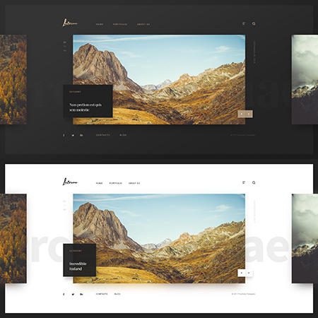 Photographer, Bootstrap template