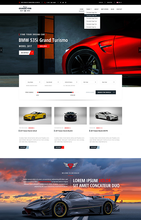 Car Marketplace, Bootstrap template