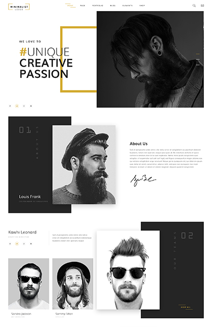 Name: Creative studio - Type: Bootstrap template - Item number:300111929