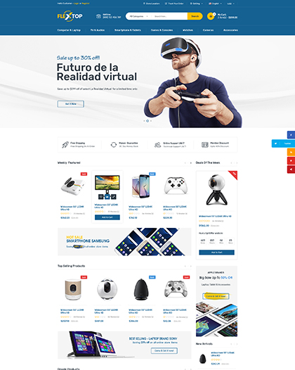 Name: Flextop - Type: Bootstrap template - Item number:300111930