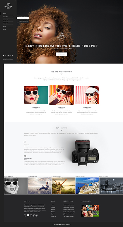 Name: Photographer - Type: Bootstrap template - Item number:300111935
