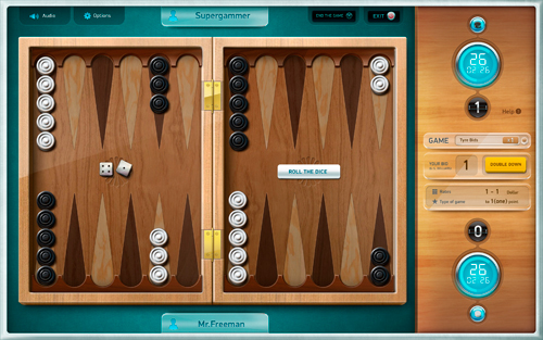 short and long backgammon online