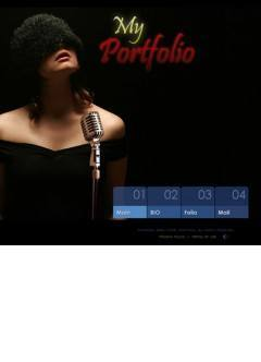 Singers Portfolio Flash template