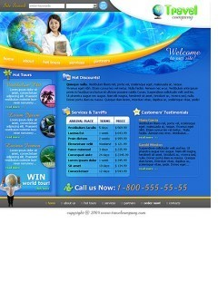 Travel html dreamweaver template