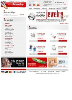 Jewelry Store html dreamweaver template