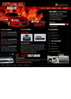 Auto dealer html dreamweaver template