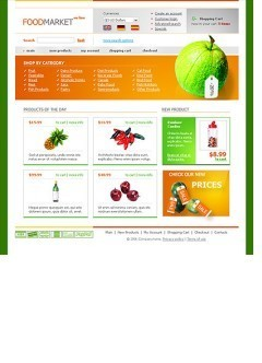 Food store html dreamweaver template
